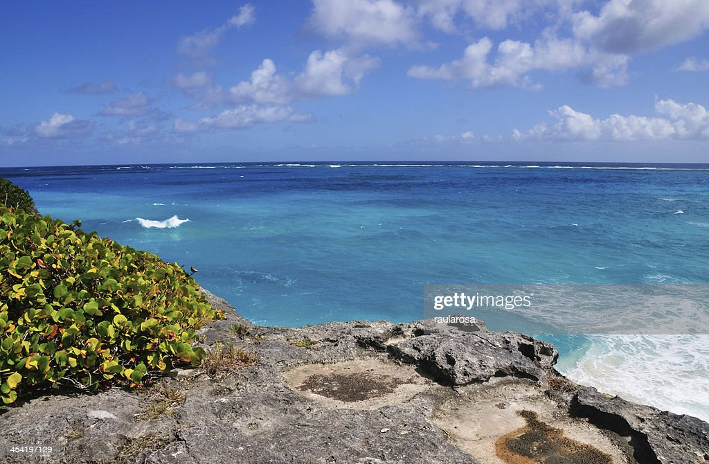 Cliff Over Ocean : Stock Photo