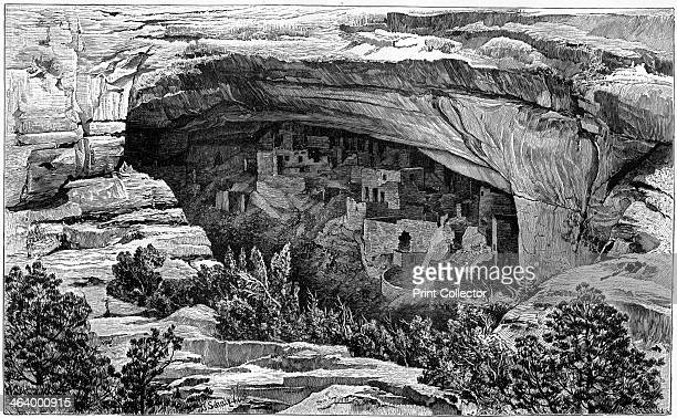 Cliff Palace in Cliff Palace Canyon, southwest Colorado, USA, 1901. Built by the Native American Pueblo culture, Cliff Palace is the largest cliff...