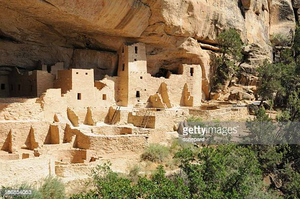 cliff palace in mesa verde, colorado landscape - mesa verde national park stock pictures, royalty-free photos & images