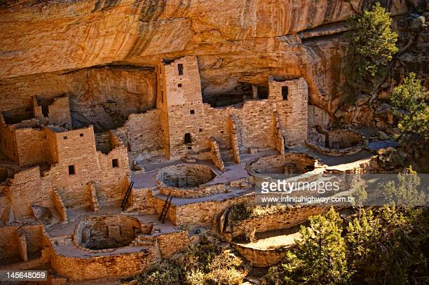 cliff palace, mesa verde national park - mesa verde national park stock pictures, royalty-free photos & images