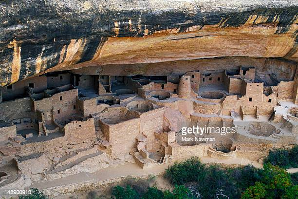 cliff palace ruins. - mesa verde national park stock pictures, royalty-free photos & images