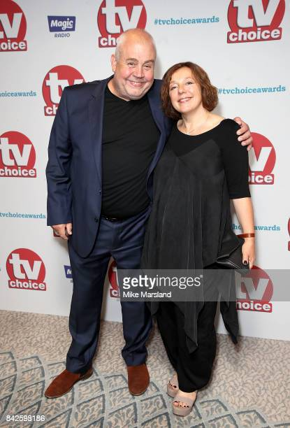Cliff Parisi and Annabelle Apsion arrive for the TV Choice Awards at The Dorchester on September 4 2017 in London England