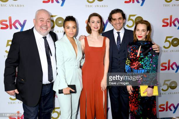 Cliff Parisi Leonie Elliott Jennifer Kirby and Laura Main attend the 2019 'TRIC Awards' held at The Grosvenor House Hotel on March 12 2019 in London...