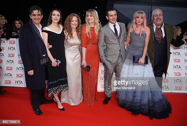 Cliff Parisi Stephen McGann Helen George Charlotte Richie Laura Main Jack Ashton and Victoria Yeates attend the National Television Awards at The O2...