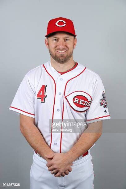 Cliff Pennington of the Cincinnati Reds poses during Photo Day on Tuesday February 20 2018 at Goodyear Ballpark in Goodyear Arizona