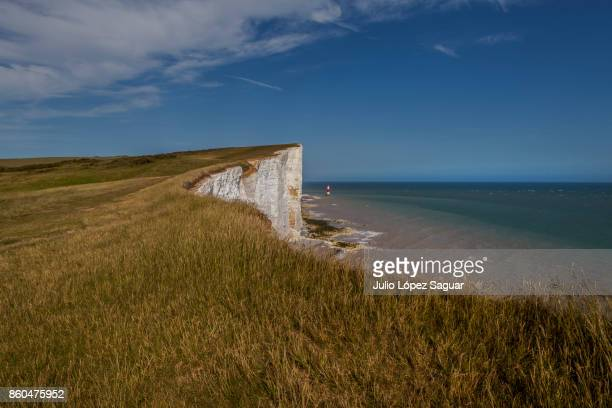 cliff - seven sisters cliffs stock photos and pictures