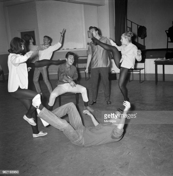 Cliff Richard and the Shadows and partners rehearse for a new sixteen week show 'Holiday Carnival' which opens at the ABC Theatre in Blackpool Cliff...