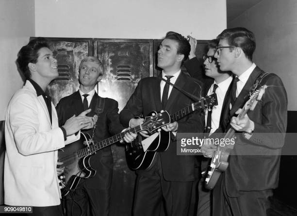Cliff Richard and The Shadows backstage at The Regal, Cambridge 10th November 1959.