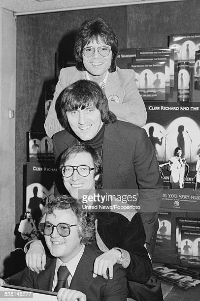 Cliff Richard and The Shadows pictured together in London to promote the release of the live album 'Thank You Very Much' on 2nd February 1979 From...