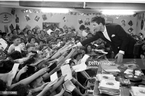 Cliff Richard at the Girls and Boys exhibition, 18th August 1959.