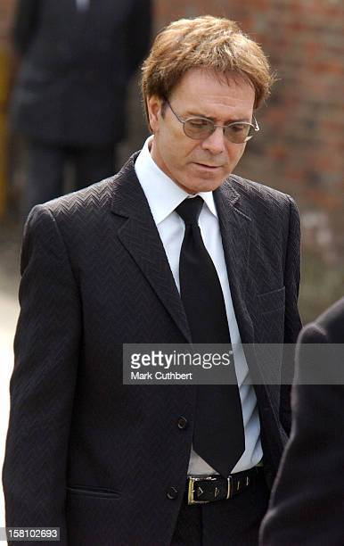Cliff Richard Attends The Funeral Of Caron Keating At Herver Castle In Kent