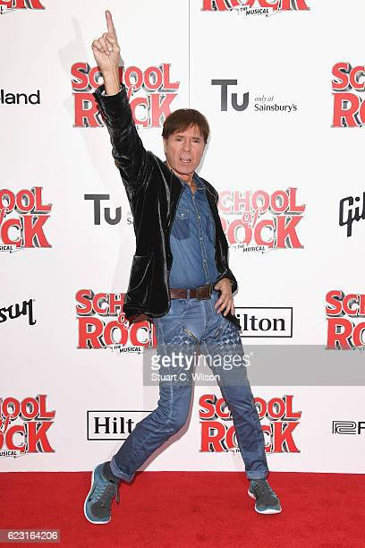 Cliff Richard attends the opening night of 'School Of Rock The Musical' at the New London Theatre, Drury Lane on November 14, 2016 in London, England.