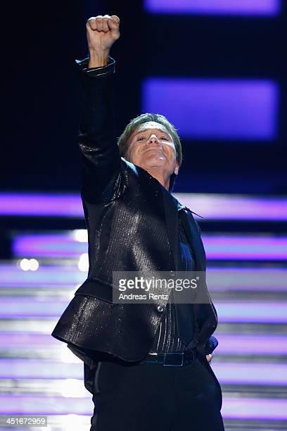 Cliff Richard performs during the 'Willkommen bei Carmen Nebel' show at Volkswagen Halle on November 23 2013 in Braunschweig Germany