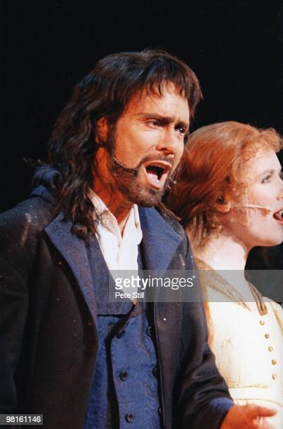 Cliff Richard performs in the title role of the Musical 'Heathcliff' at The National Indoor Arena on December 12th 1996 in Birmingham England