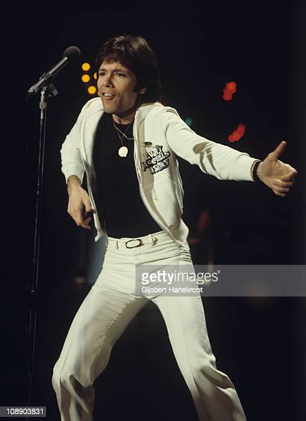 Cliff Richard performs on a TV show in Hilversum Netherlands 1972
