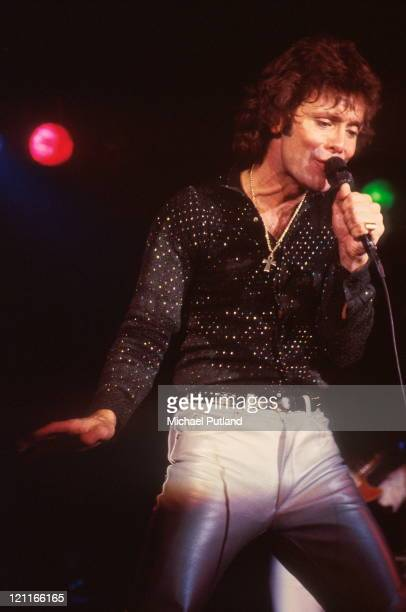 Cliff Richard performs on stage Windsor UK 1982
