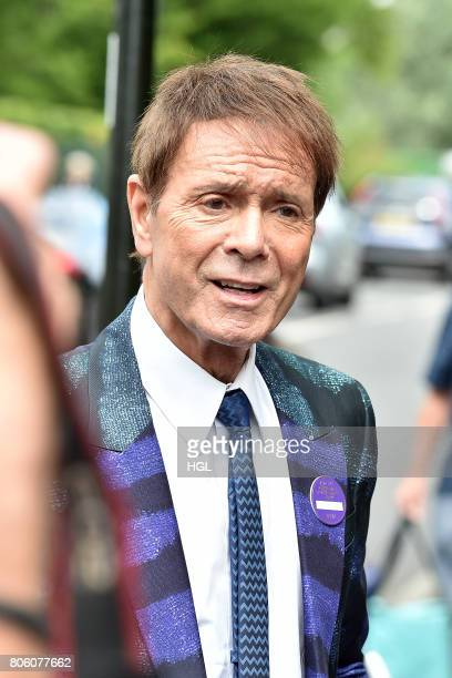 Cliff Richard seen arriving at Day One of Wimbledon 2017 on July 3 2017 in London England
