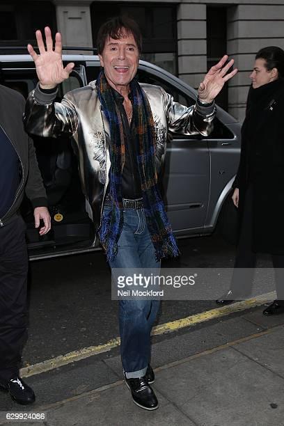 Cliff Richard seen at BBC Radio 2 on December 15 2016 in London England