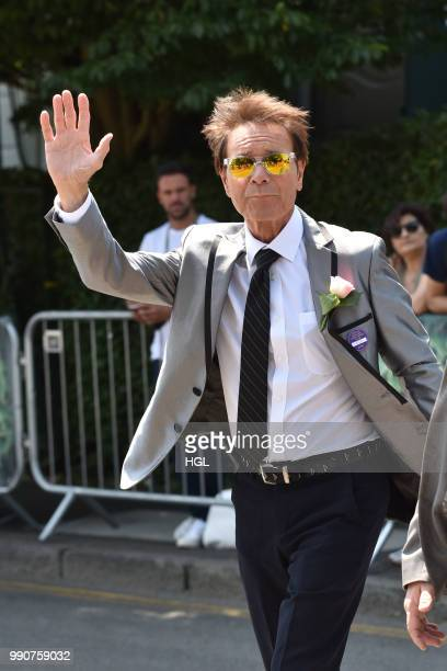 Cliff Richard seen outside Wimbledon AELTC on July 3 2018 in London England