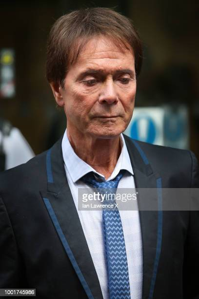 Cliff Richard walks outside the Rolls Building after winning his High Court privacy battle with the BBC on July 18 2018 in London England Sir Cliff...