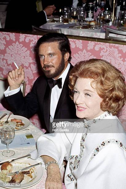 Cliff Robertson and Myrna Loy during Governors Ball After Oscars at Beverly Hilton Hotel in Beverly Hills California United States
