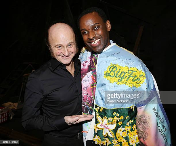 Cliff Saunders and Arbender J Robinson during the Broadway Opening Night Performance AEA Gypsy Robe Ceremony honoring Arbender J Robinson for 'Les...