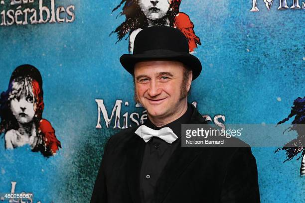 Cliff Saunders attends the opening night of Cameron Mackintosh's new production of Boublil and Schonberg's Les Miserables on Broadway at The Imperial...