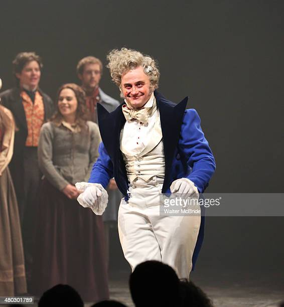 Cliff Saunders during the Broadway Opening Night Curtain Call for Les Miserables at The Imperial Theater on March 23 2014 in New York City
