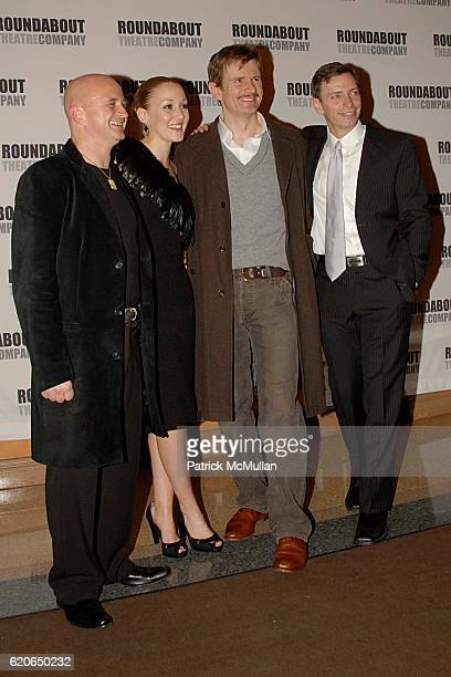 Cliff Saunders Jennifer Ferrin Charles Edwards and Arnie Burton attend THE 39 STEPS Opening Night at American Airlines Theater on January 15 2008 in...
