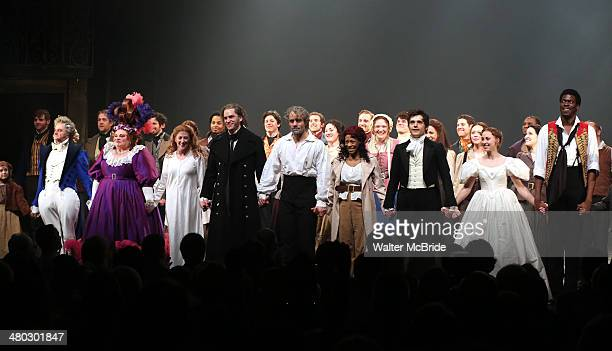 Cliff Saunders Keala Settle Caissie Levy Will Swenson Ramin Karimloo Nikki M James Andy Mientus Samantha Hill Kyle Scatliffe and Company during the...