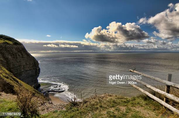 cliff top - nigel owen stock pictures, royalty-free photos & images