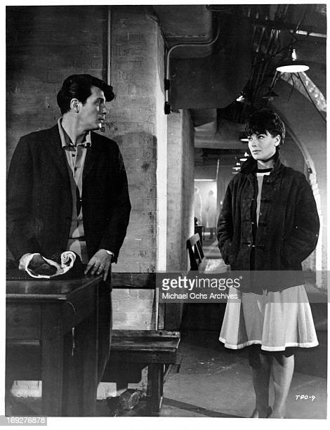 Clifford David meets up with Louise Sorel in a scene from the film 'The Party's Over' 1965 Photo by Allied Artists/Getty Images