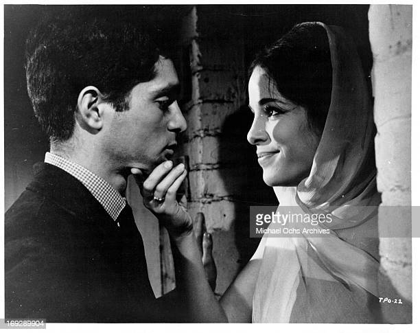 Clifford David shares a tender moment with Louise Sorel in a scene from the film 'The Party's Over' 1965 Photo by Allied Artists/Getty Images