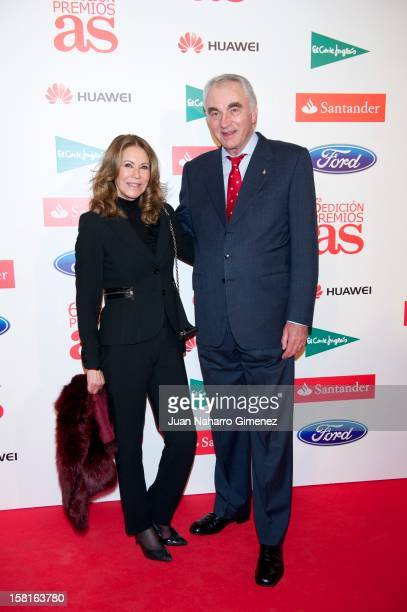 Clifford Luyk and Paquita Torres attend As del Deporte awards 2012 at Palace Hotel on December 10 2012 in Madrid Spain