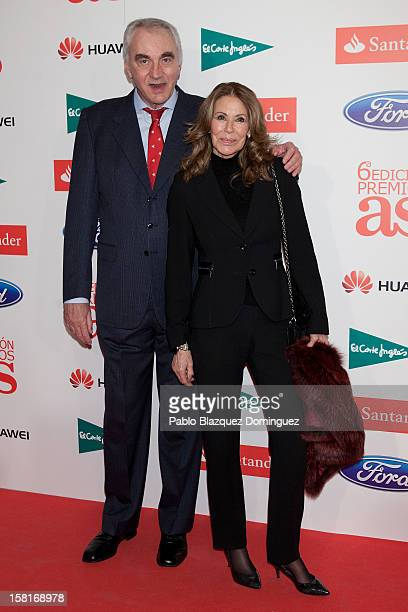 Clifford Luyk and Paquita Torres attend 'As Del Deporte' Awards 2012 at The Westin Palace Hotel on December 10 2012 in Madrid Spain