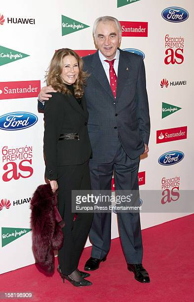 Clifford Luyk and Paquita Torres attend As Del Deporte' Awards 2012 on December 10 2012 in Madrid Spain