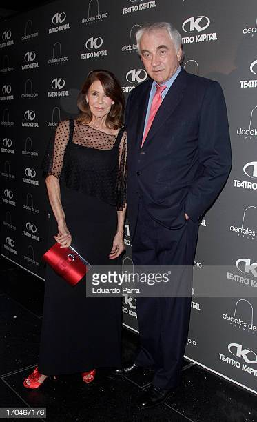 Clifford Luyk and Paquita Torres attend 'Dedales de oro' awards photocall at Kapital Theatre on June 13 2013 in Madrid Spain
