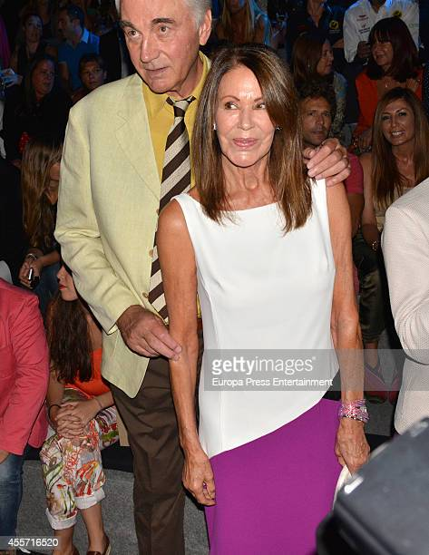 Clifford Luyk and Paquita Torres attend Mercedes Benz Fashion Week Madrid at Ifema on September 12 2014 in Madrid Spain