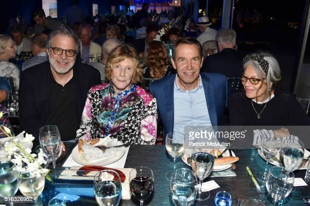 Clifford Ross Agnes Gund Jeff Koons and Jane Wenner attend the Midsummer Party 2017 at Parrish Art Museum on July 15 2017 in Water Mill New York