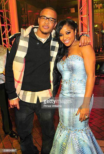Clifford 'TI' Harris and Antonia Wright attend Reginae Carter's 13th Birthday party at The Callanwolde Mansion on November 19 2011 in Atlanta Georgia