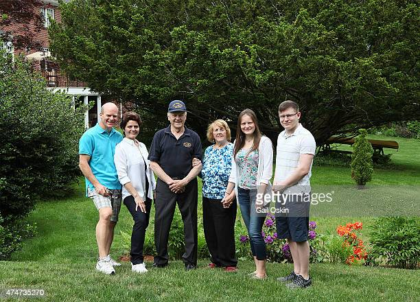BEDFORD MA MAY 25 Clifford Washer Carol Washer James F Comley Virginia Comley Kristina Washer and James Washer pose for a picture before the Bedford...