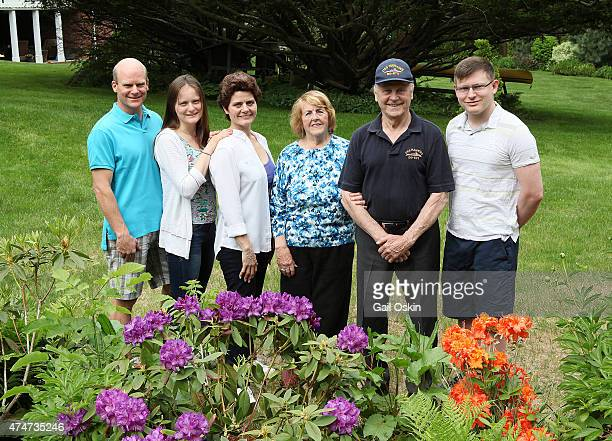 BEDFORD MA MAY 25 Clifford Washer Kristina Washer Carol Washer Virginia Comley James F Comley and James Washer pose for a picture before the...