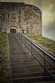Clifford's Tower at York Castle in England