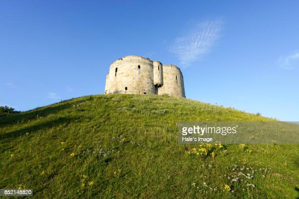 clifford's tower, york, england - york stock photos and pictures