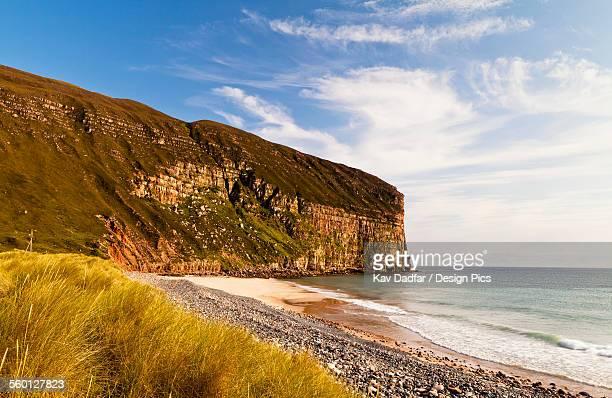 Cliffs along the coast of Orkney Islands, Rackwick