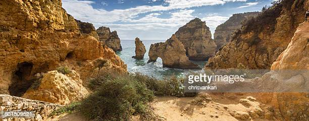 Cliffs and beach, Carvoeiro, Faro, Portugal