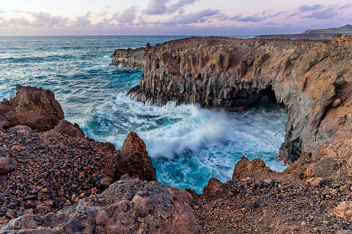 Cliffs and rough water - gettyimageskorea
