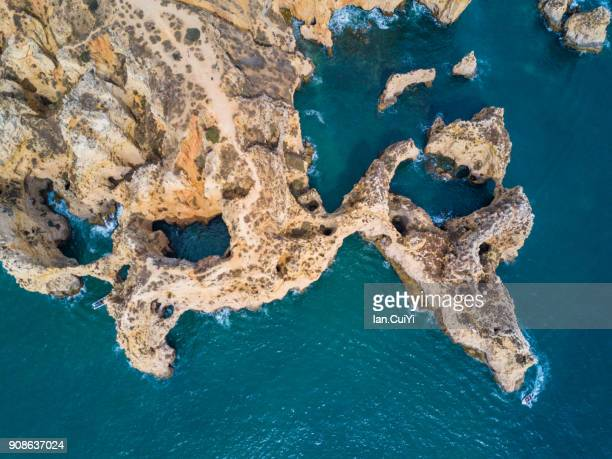 Cliffs and sea stacks of Ponta da Piedade, Algarve, Portugal