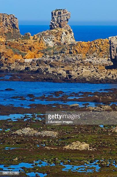 Cliffs at Atlantic Coast Carvoeiro cape Peniche Estremadura Portugal
