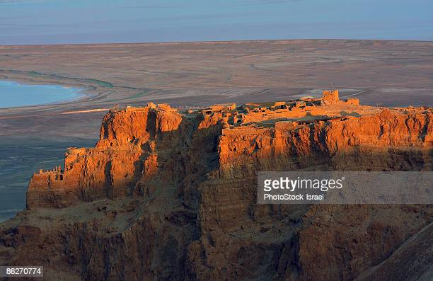 cliffs at dusk - dead sea stock pictures, royalty-free photos & images